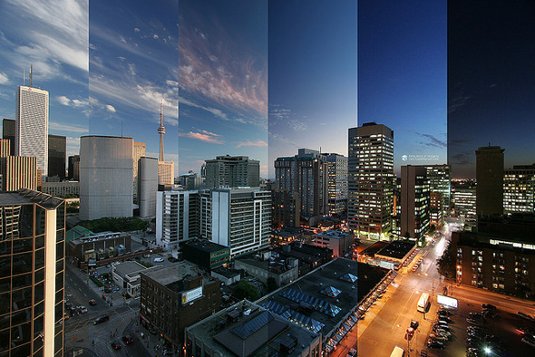 time lapse sunset toronto
