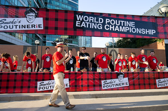 World Poutine Eating champ defends crown in Toronto