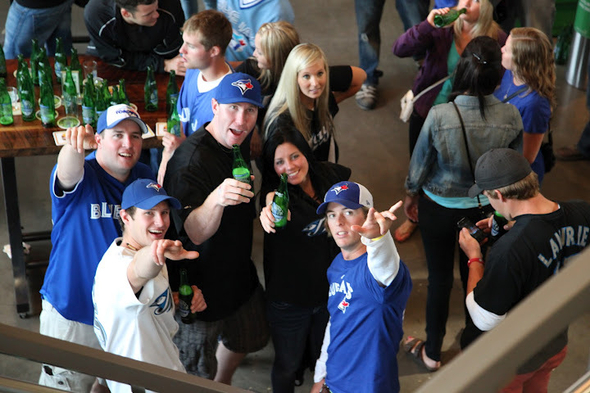 20120618 - Jays fans at Steam Whistle.JPG