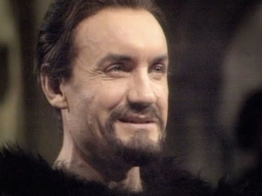 The Master (Anthony Ainley) reveals his true face in The King's Demons (c) BBC Studios
