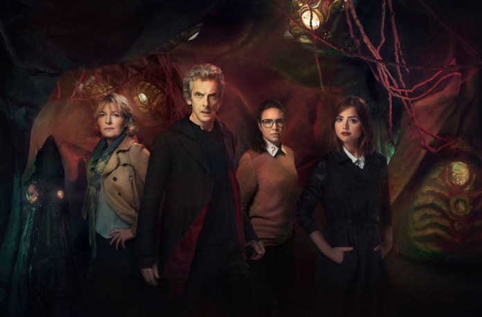 Doctor Who – TX: 07/11/2015 – Episode: THE ZYGON INVERSION (By Peter Harness and Steven Moffat) (No. 8) – Picture Shows: Kate (JEMMA REDGRAVE), Doctor Who (PETER CAPALDI), Osgood (INGRID OLIVER), Clara (JENNA COLEMAN) – (C) BBC – Photographer: Simon Ridgway