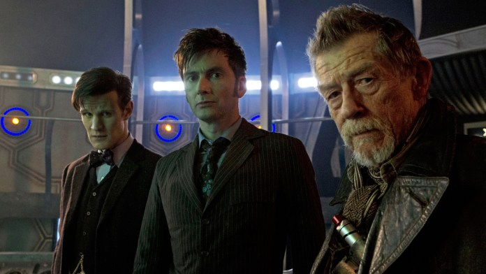 Matt Smith, David Tennant and John Hurt - Doctor Who - The Day of the Doctor (c) BBC