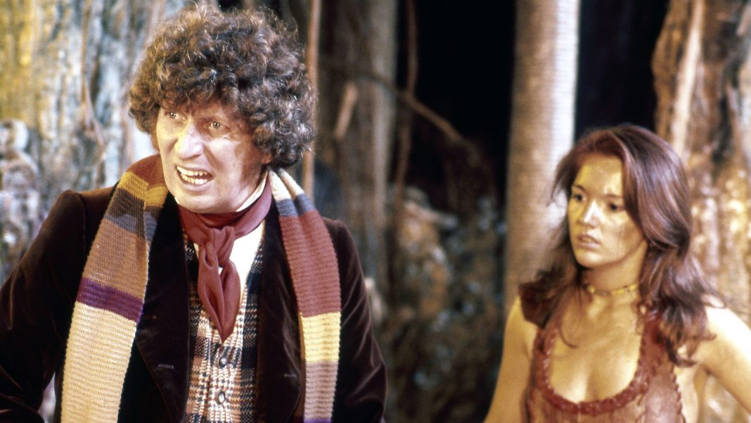 The Doctor (Tom Baker) - Doctor Who - The Face of Evil (c) BBC Doctor Who Leela Louise Jameson