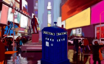 The TARDIS in Times Square, NYC by Lucy Crewe