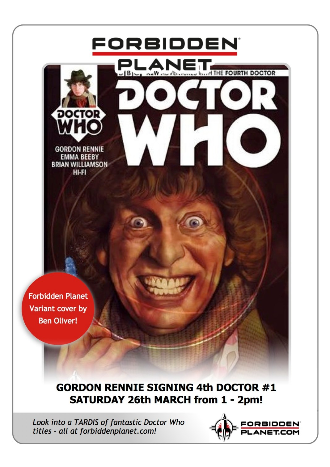 TITAN COMICS: Fourth Doctor #1 - Variant cover by Ben Olivier