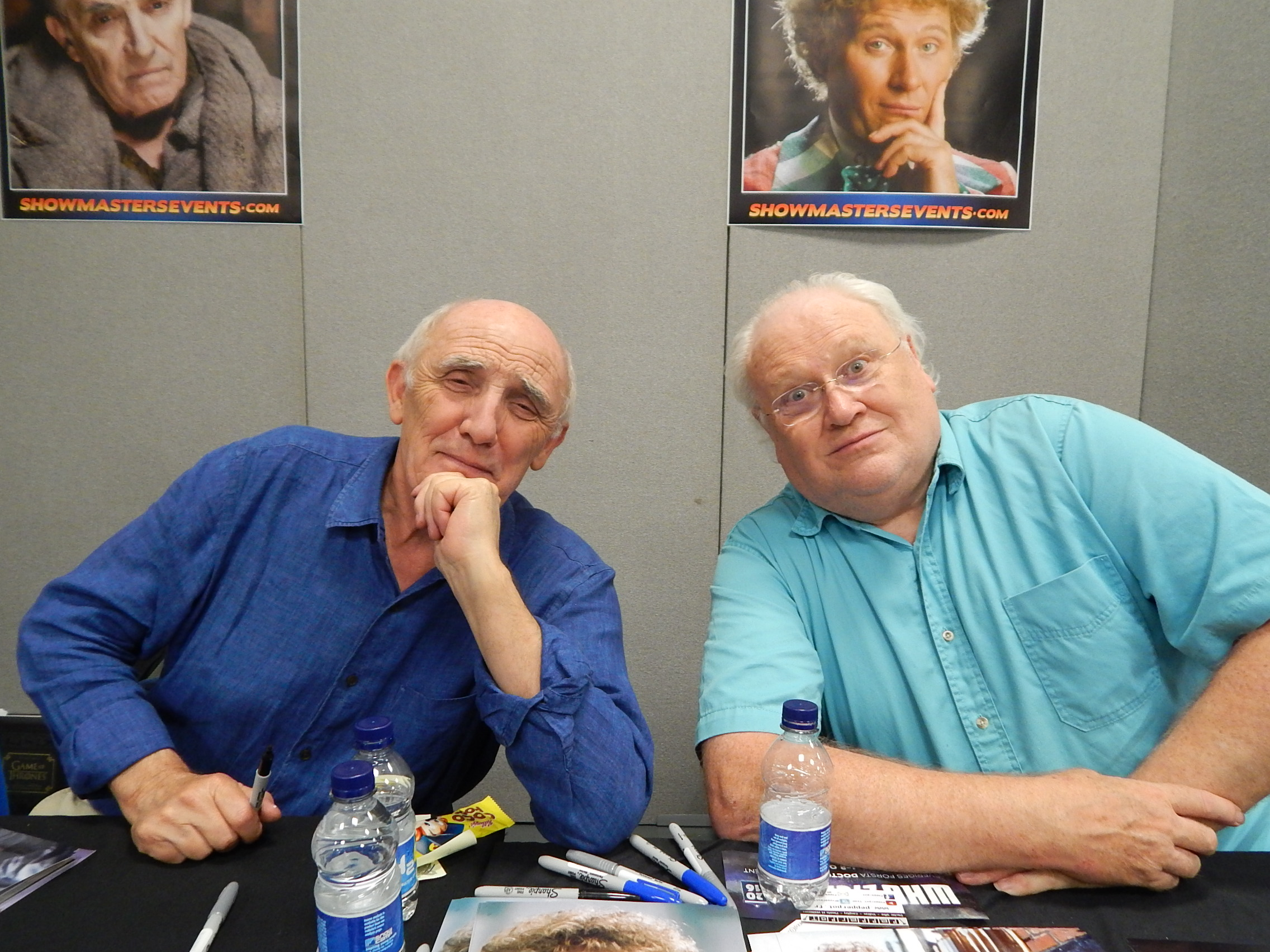 de3d3990b1d6 Donald Sumpter and Colin Baker - London Film and Comic Con July 2016 Photo  by Daniel