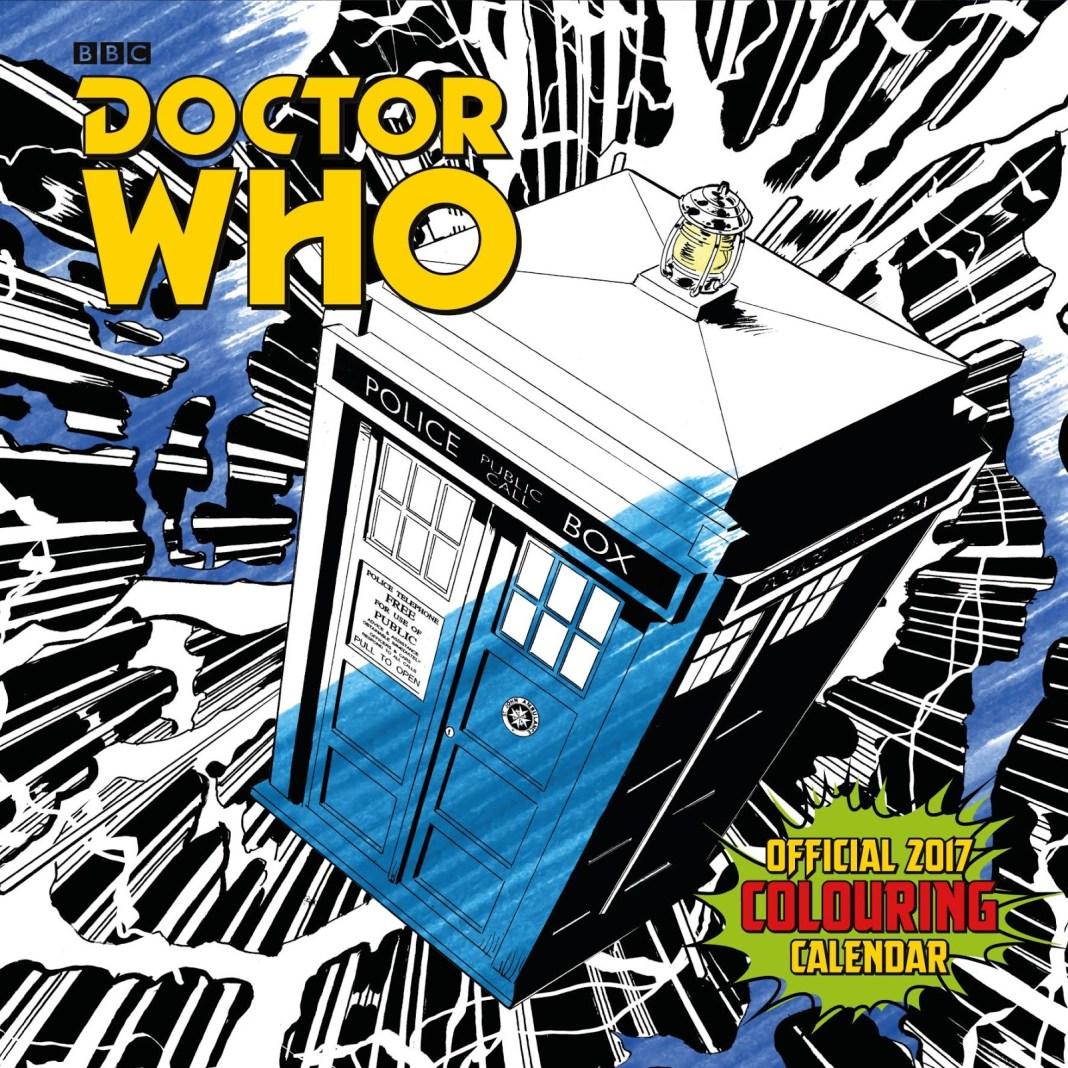 Doctor Who Official 2017 Colouring Calenda