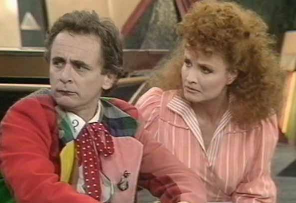 Sylvester McCoy and Kate O'Mara - Doctor Who - Time and the Rani