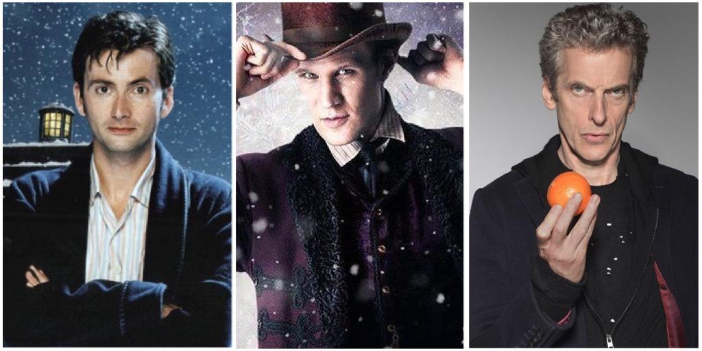 Tenth Doctor (DAVID TENNANT), Eleventh Doctor (MATT SMITH) and Twelfth Doctor (PETER CAPALDI)