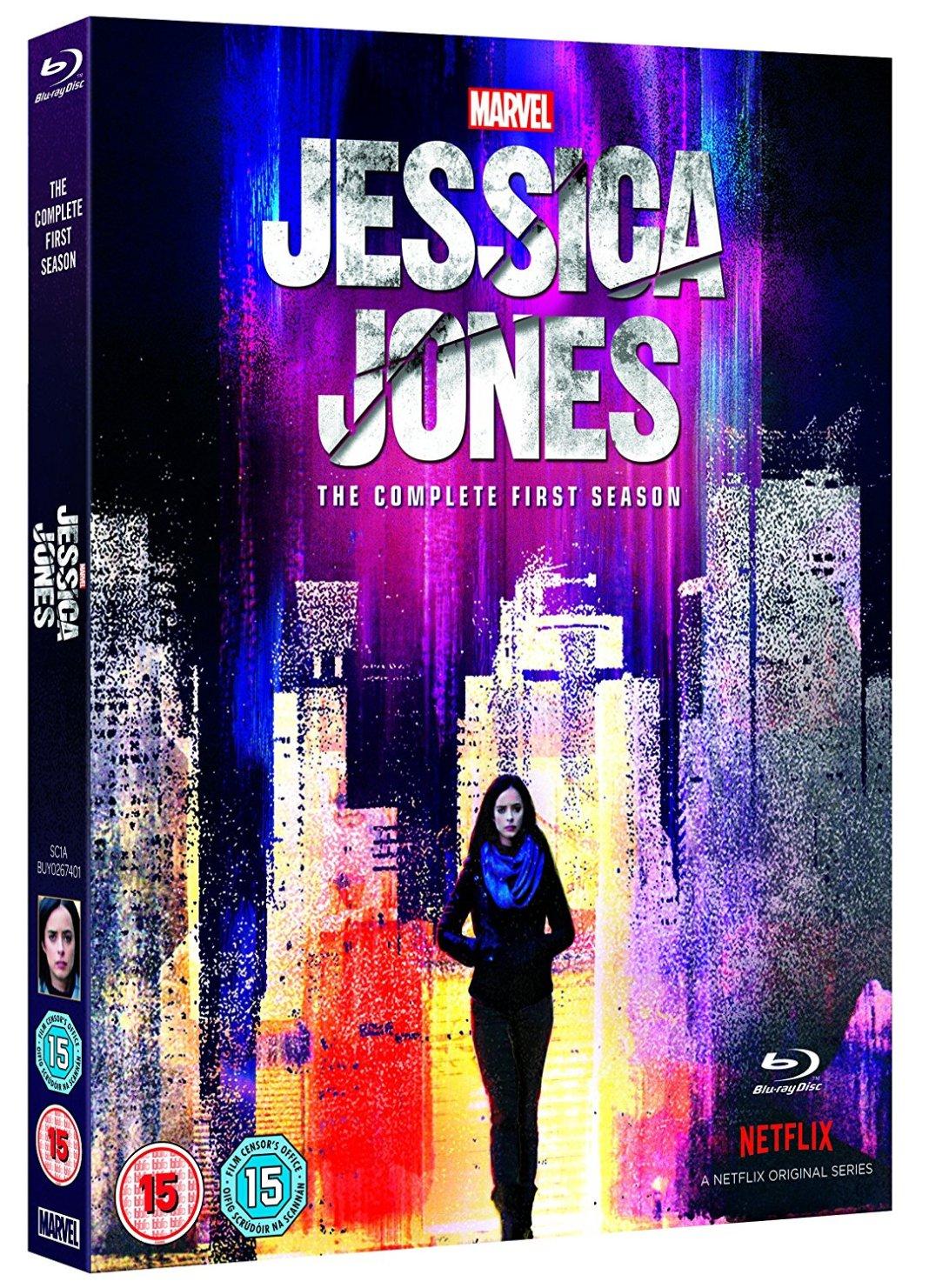 Marvel's Jessica Jones UK Blu-ray Cover