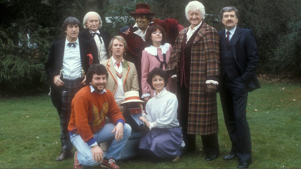 The Cast of Doctor Who - The Five Doctors (c) BBC