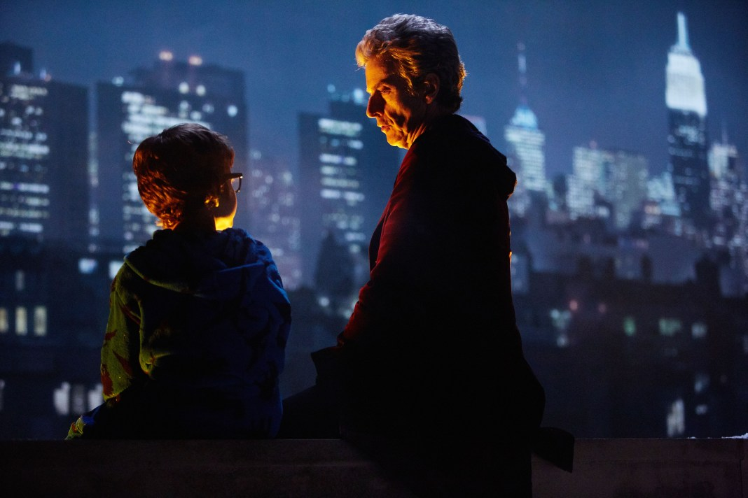 Picture shows:Doctor Who Xmas Special 2016 - Peter Capaldi as the Doctor and Logan Hoffman as Young Grant - BBC - Photo: Simon Ridgway