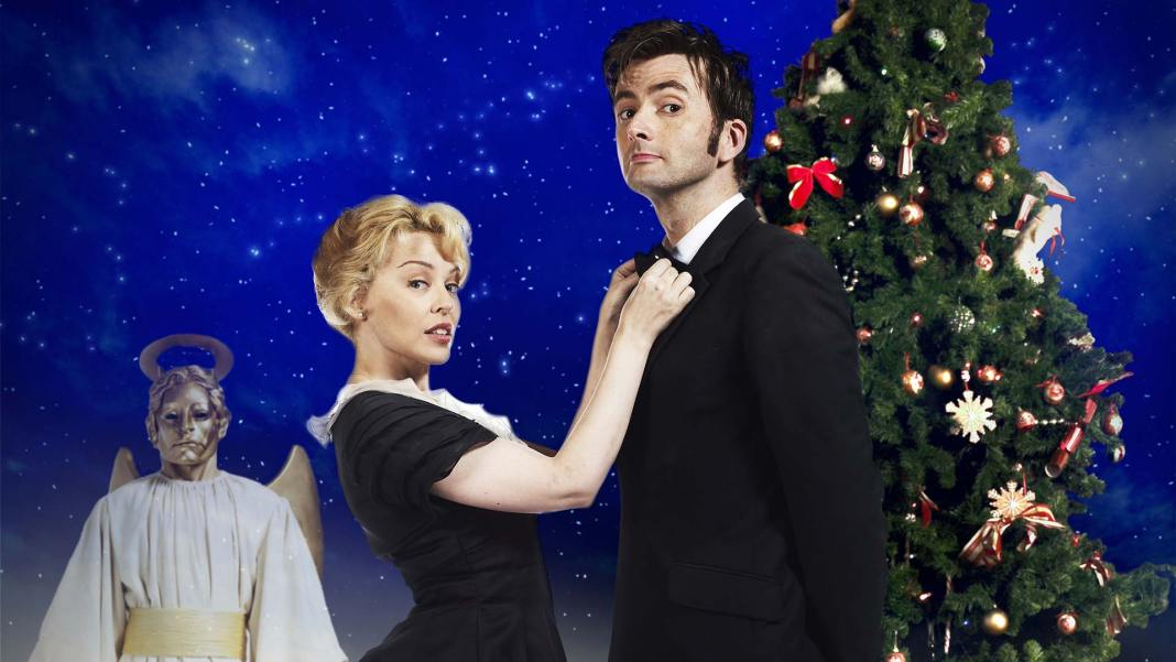 David Tennant as the Doctor and Kylie Minogue as Astrid - Doctor Who - Voyage of the Damned