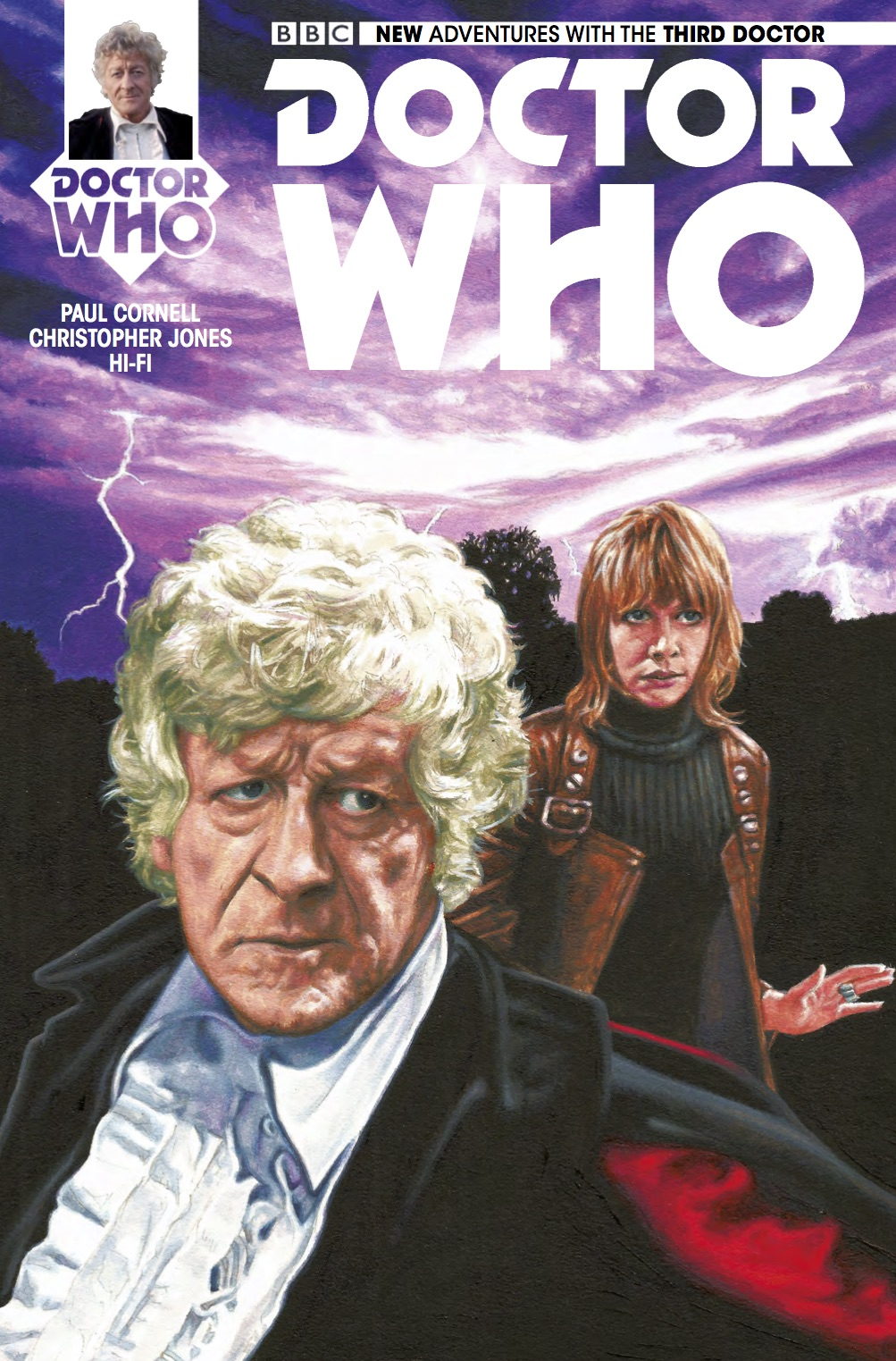 TITAN COMICS - THIRD DOCTOR #4 COVER A BY ANDY WALKER
