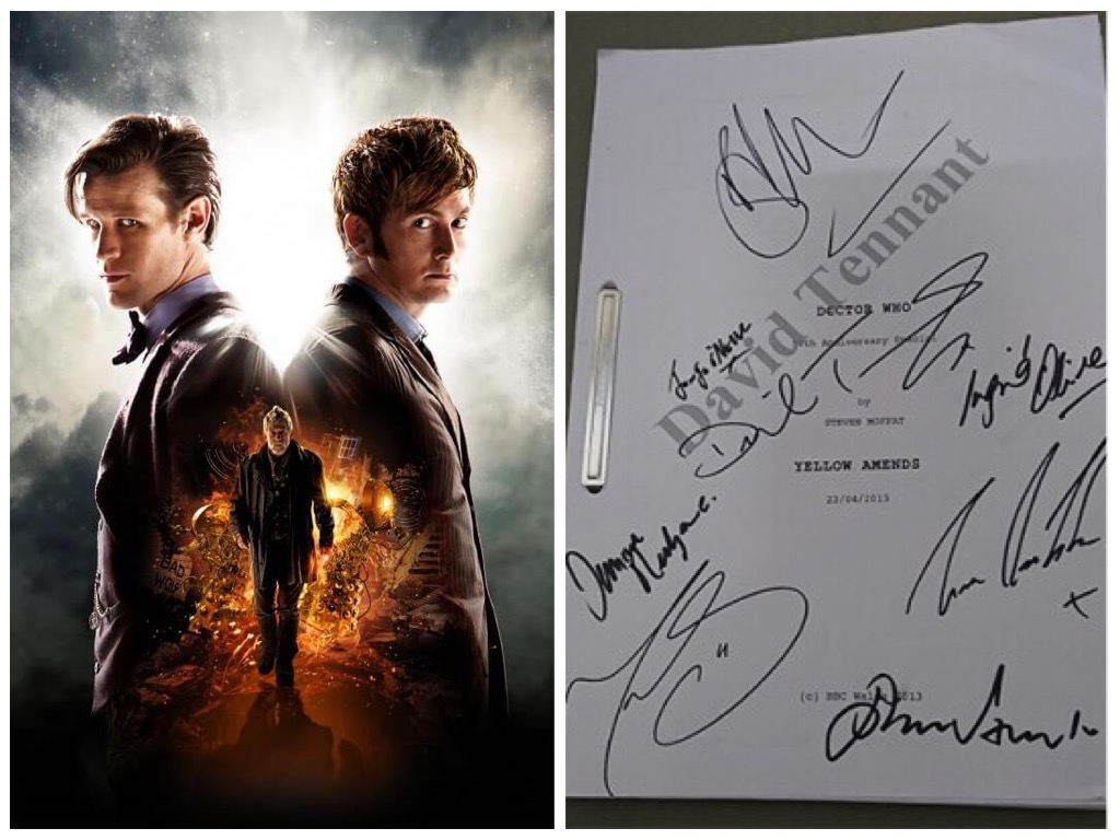 Doctor Who 50th Anniversary Iconic Image (BBC) and Signed Script (Accord)