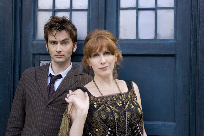 Tenth Doctor (David Tennant) and Donna Noble (Catherine Tate) Doctor Who - The Unicorn and the Wasp (c) BBC