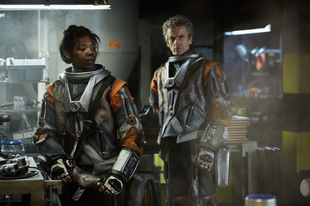 Doctor Who S10 - TX: 13/05/2017 - Episode: Oxygen (No. 5) - Picture Shows: Abby (MIMI NDIWENI), The Doctor (PETER CAPALDI) - (C) BBC/BBC Worldwide - Photographer: Simon Ridgway