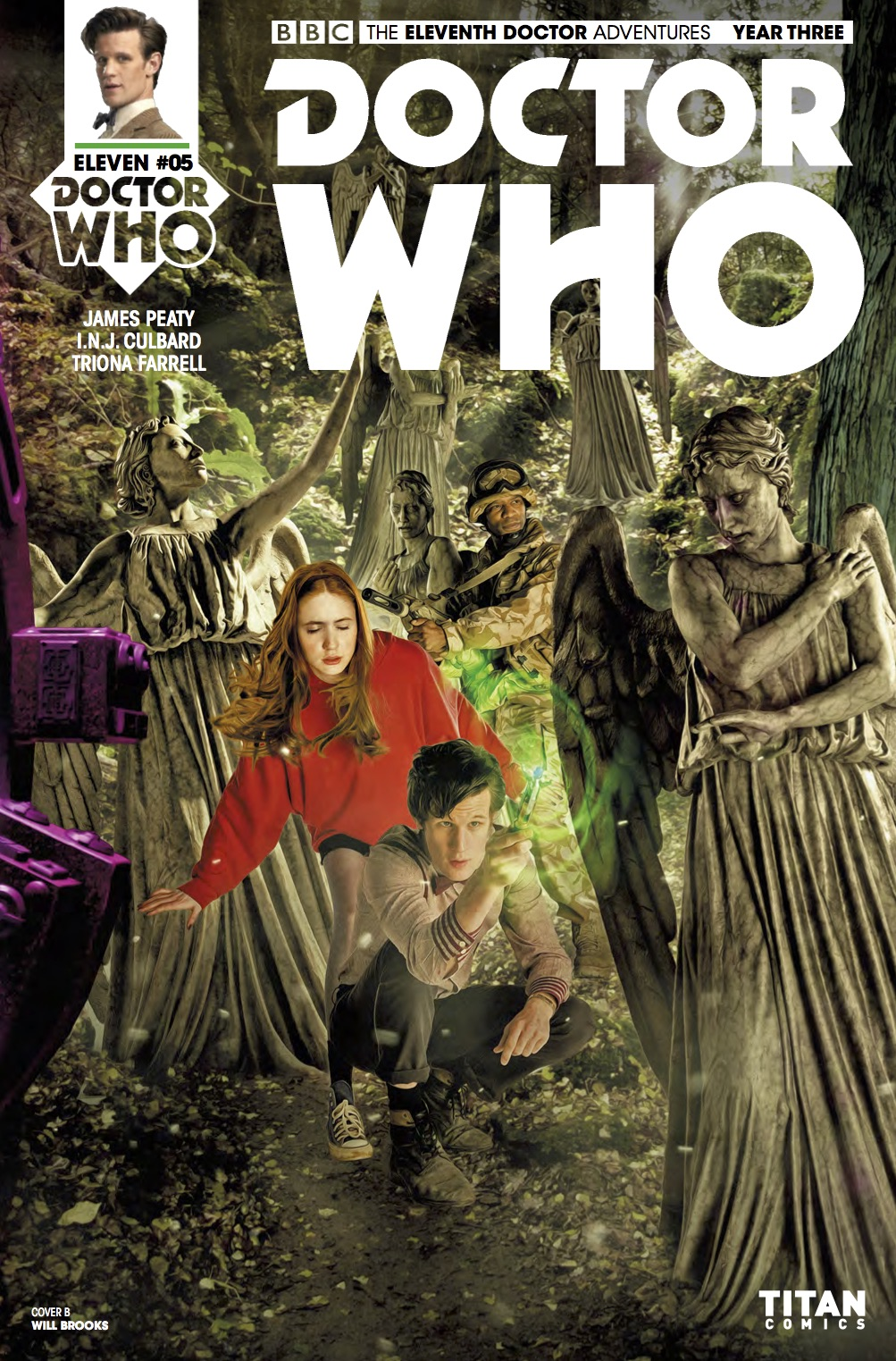 TITAN COMICS - Doctor Who : The Eleventh Doctor Year Three #5 Cover B: Photo Will Brooks
