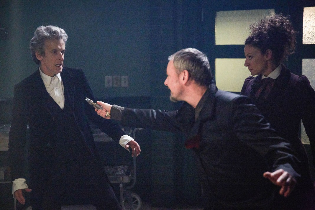 Doctor Who S10 - The Doctor Falls - The Doctor (PETER CAPALDI), The Master (JOHN SIMM), Missy (MICHELLE GOMEZ) - (C) BBC/BBC Worldwide - Photographer: Simon Ridgway