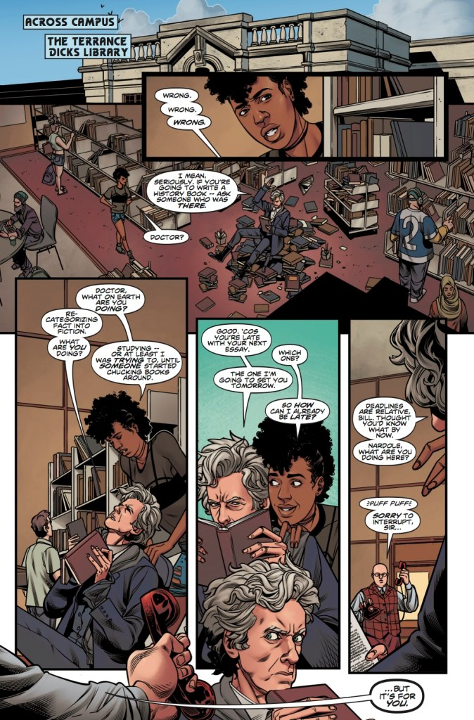 Doctor Who: Lost Dimension Part 1 - Pg 6. Art by Rachael Stott. (c) BBC