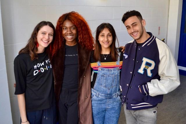 Sophie Hopkins (April MacLean), Vivian Oparah (Tanya Adeola), Taj Atwal (Reagan Harper) and Fady Elsayed (Ram Singh)