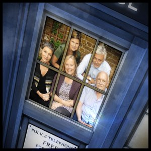 Ace (Sophie Aldred) and the CounterMeasures team (Simon Williams, Pamela Salem, Karen Gledhill and Hugh Ross)