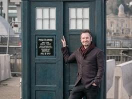 Pete McTighe with the 2018 TARDIS Prop (c) BBC