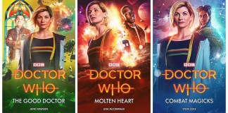 Thirteenth Doctor Novels - The Good Doctor (Juno Dawson), Molten Heart (Una McCormack), Combat Magicks (Steve Cole) - (c) BBC Books
