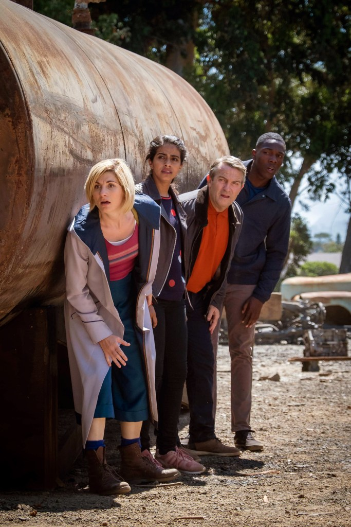 Doctor Who - Series 11 - Episode 3 - Rosa : The Doctor (JODIE WHITTAKER), Yaz (MANDIP GILL), Graham (BRADLEY WALSH),