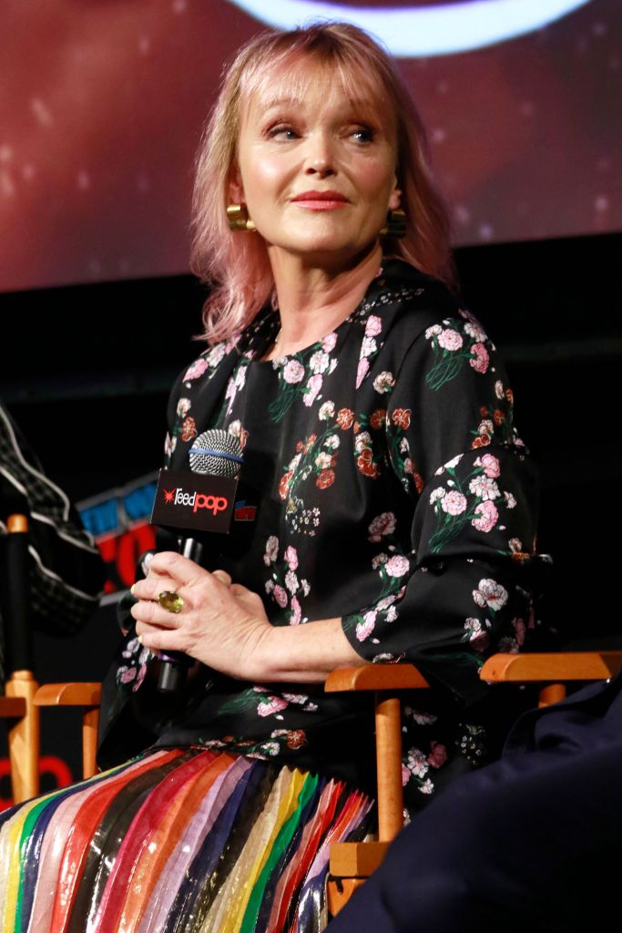 Miranda Richardson 'Good Omens' TV show panel, New York Comic Con, USA - 06 Oct 2018 - Photo by MediaPunch