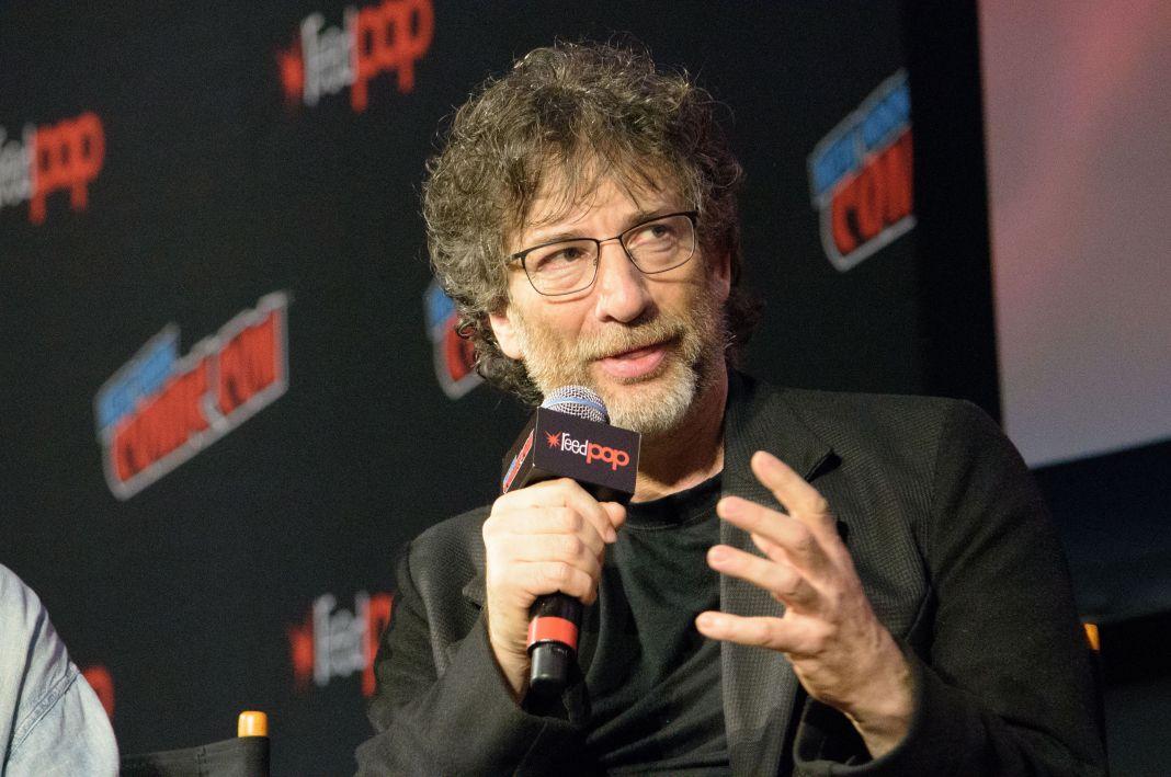 Neil Gaiman 'Good Omens' TV show panel, New York Comic Con, USA - 06 Oct 2018 -Photo by M Stan