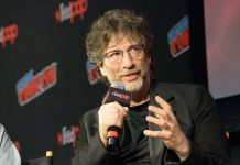 Neil Gaiman 'Good Omens' TV show panel, New York Comic Con, USA - 06 Oct 2018 -Photo by M Stan