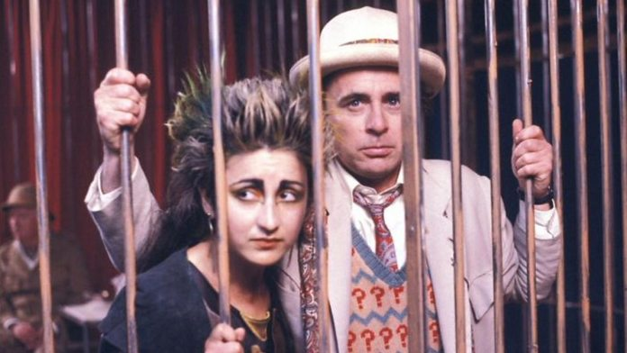 Jessica Martin starred as Mags in The Greatest Show in the Galaxy alongside Sylvester McCoy (The Doctor) and TP McKenna (Captain Cook) (c) BBC