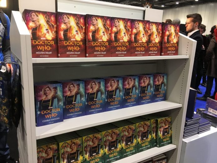 Thirteenth Doctor Novels at Doctor Who Stand at MCM London Comic Con 2018