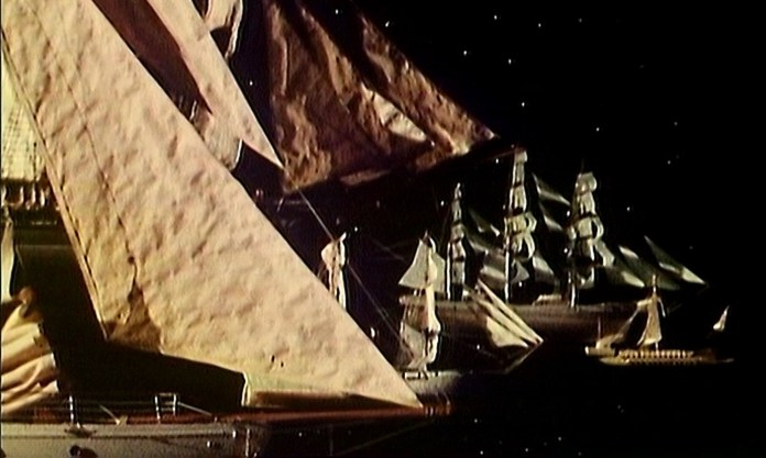 Enlightenment (1983) featured a race through space between competing ships (c) BBC