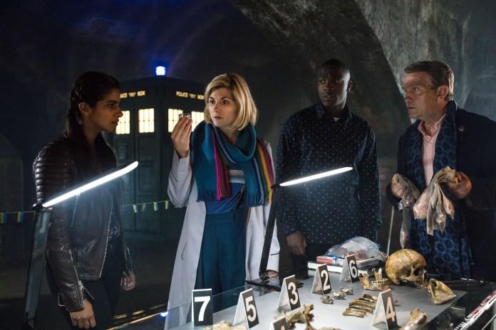 Doctor Who - New Years Day Special 2019 - Yaz (MANDIP GILL), The Doctor (JODIE WHITTAKER), Ryan (TOSIN COLE), Graham (BRADLEY WALSH) - (C) BBC/ BBC Studios - Photographer: Sophie Mutevelian
