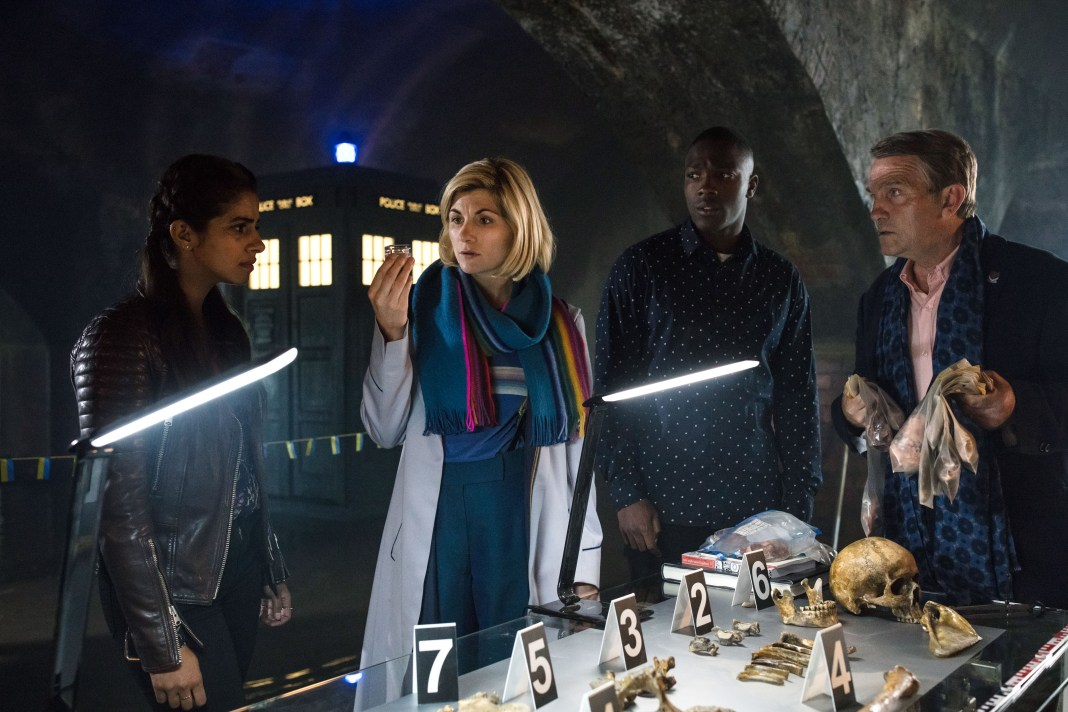 Doctor Who - Resolultion - Yaz (MANDIP GILL), The Doctor (JODIE WHITTAKER), Ryan (TOSIN COLE), Graham (BRADLEY WALSH) - (C) BBC/ BBC Studios - Photographer: Sophie Mutevelian