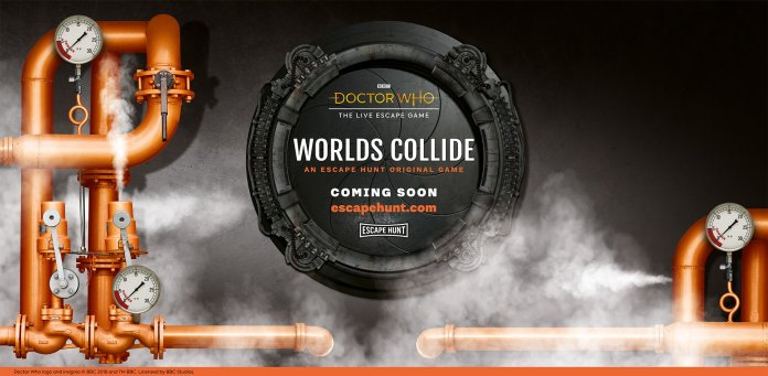 Doctor Who: Worlds Collide. Coming soon from Escape Hunt (c) Escape Hunt