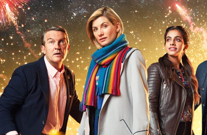 Doctor Who - Resolution - Graham (BRADLEY WALSH), The Doctor (JODIE WHITTAKER), Yaz (MANDIP GILL), Ryan (TOSIN COLE) - (C) BBC / BBC Studios - Photographer: Henrik Knudsen