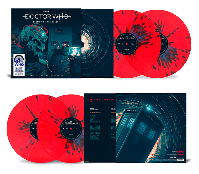 The cover and vinyl records in the exclusive Destiny of the Daleks release for Record Store Day (c) Demon Music Group