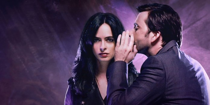Jessica Jones Season One starred Krysten Ritter as the emotionally damaged superhuman PI, alongside David Tennant as her previous tormentor, the mind controlling supervillain Kilgrace (c) Marvel/Netflix