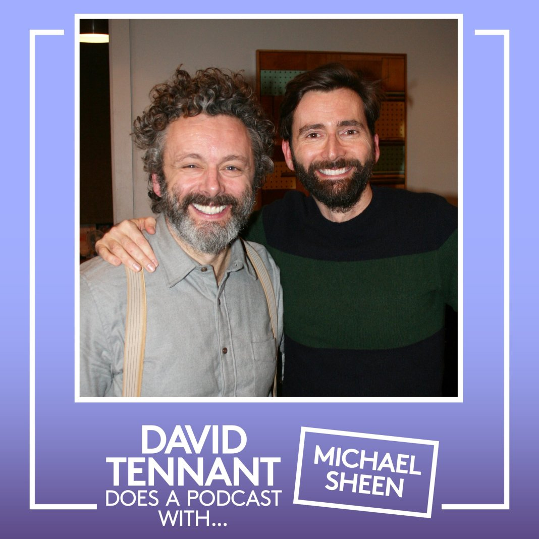 David Tennant Does a Podcast with... Michael Sheen as the former Doctor Who takes work, fame and acting with his Good Omens co-star (c) Something Else and No Mystery