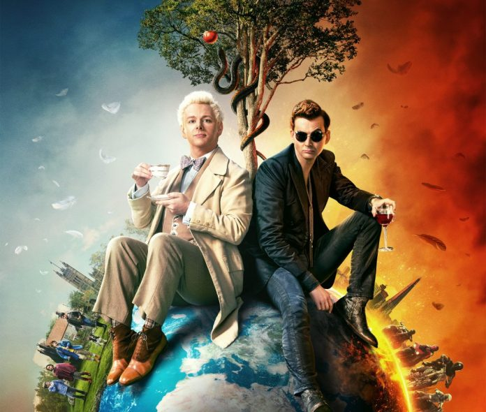 Aziraphale (Michael Sheen) and Crowley (David Tennant) are two undercover agents of Heaven and Hell, respectively, forced to work together to prevent the end of the world (c) Amazon