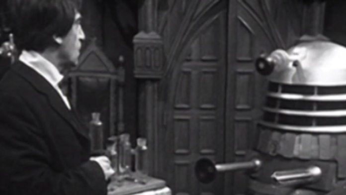 When a pair of Victorian scientists engage in primitive time travel experiments, it brings the Doctor (Patrick Troughton) face to face with the evil of the Daleks once more (c) BBC Studios