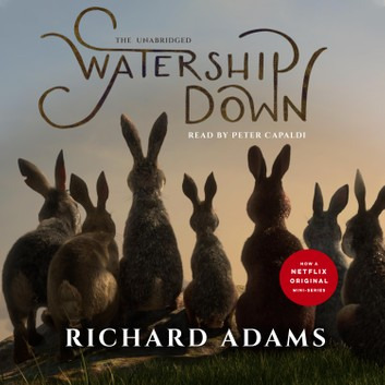 The co ver of Watership Down, read by Peter Capaldi (c) Blackstone Audio