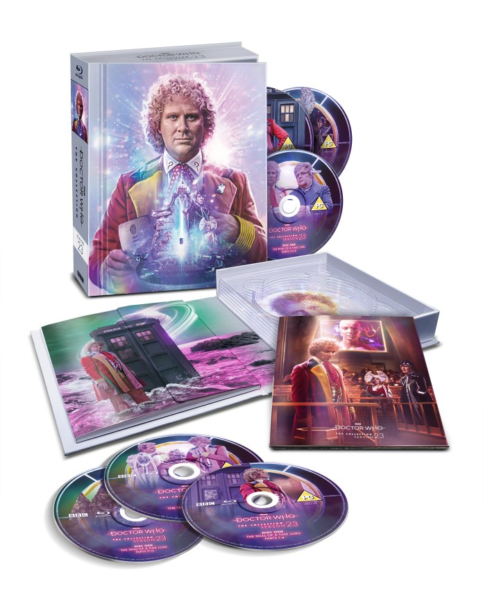 Doctor Who: The Collection - The Complete Season 23 contains six discs, a new booklet guide to the season and more gorgeous art from Lee Binding (c) BBC Studios