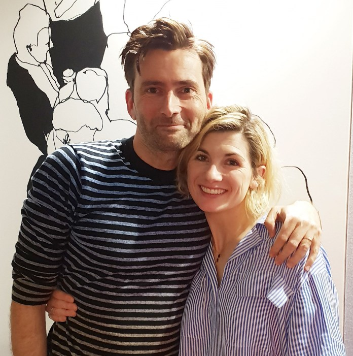 David Tennant and Jodie Whittaker together for the recording of David Tennant Does a Podcast with... Jodie Whittaker earlier this year (c) Somethin Else and No Mystery Productions
