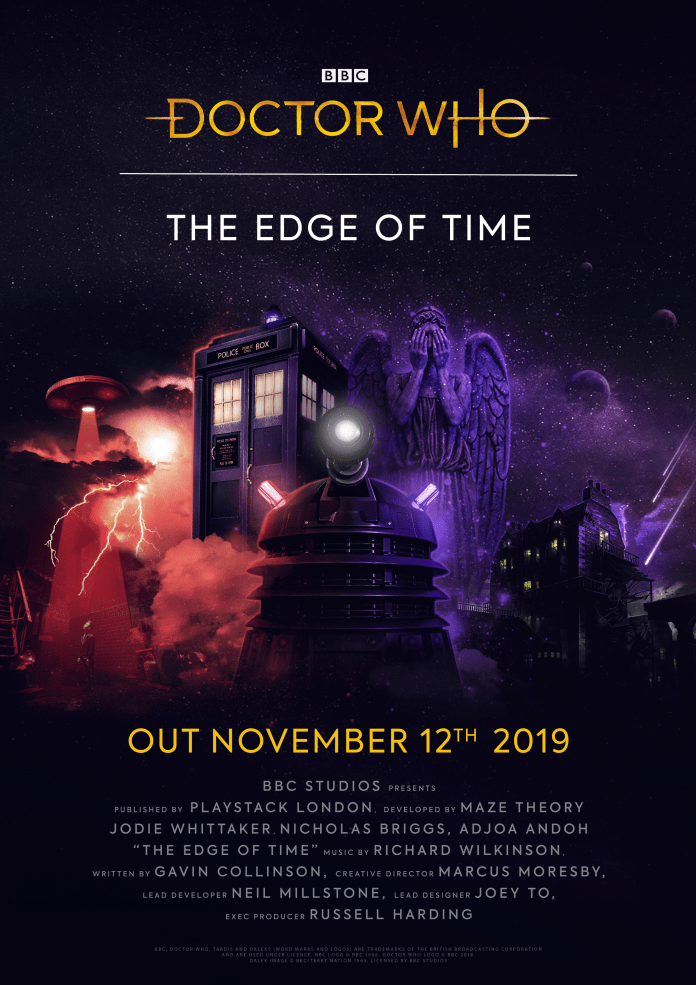 The movie style poster for Doctor Who: The Edge of Time (c) BBC Studios/Playshack