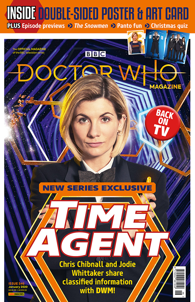 The polybag cover for Doctor Who Magazine 546 - full of previews for Doctor Who Series 12 (c) Panini