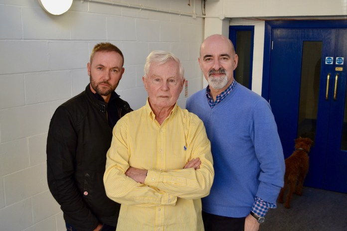 The War Master: Anti-Genesis: Seán Carlsen (Narvin), Derek Jacobi (The Master) and Nicholas Briggs (The Daleks)